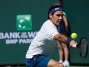 Selten in Bedrängnis, souverän in den Halbfinal: Roger Federer erreichte in Indian Wells den Halbfinal (Bild: KEYSTONE/EPA/JOHN G. MABANGLO)