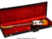 Bob Dylan benutzte die Fender-Electric 12 String Gitarre (Baujahr 1965) unter anderem bei Aufnahmen für sein legendäres Album «Blonde on Blonde». Sie ist für 187'000 Dollars versteigert worden. Über den neuen Besitzer ist nichts bekannt. (Bild: Heritage Auctions, HA.com) (Bild: Heritage Auctions, HA.com)