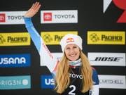 Fanny Smith will auch beim Saison-Finale in Veysonnaz vom Siegerpodest winken (Bild: KEYSTONE/FR71569AP/ALEX GOODLETT)