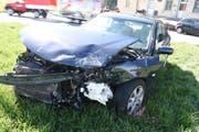 Eines der am Unfall beteiligten Autos. (Bild: Luzerner Polizei, Beromünster, 16. März 2019)