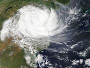 Eine Luftaufnahme des Zyklons Idai im Moment als er in Mosambik auf Land trifft. (Bild: KEYSTONE/EPA NASA WORLDVIEW/NASA WORLDVIEW / HANDOUT)