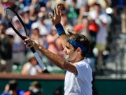 Bei diesem Siegjubel nach dem Viertelfinal wusste Roger Federer noch nicht, dass er mit diesem 6:4, 6:4-Erfolg über Hubert Hurkacz schon das Finalticket in Indian Wells löste (Bild: KEYSTONE/AP/MARK J. TERRILL)