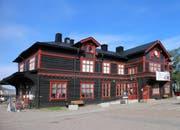 Bahnhof in Gällivare.