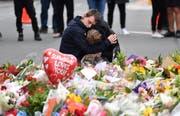 Grosse Trauer in Neuseeland nach dem Angriff auf zwei Moscheen. Bild: Mick Tsikas/EPA (Christchurch, 16. März 2019)