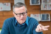 Er wollte mit Umweltpolitik punkten, kam aber lediglich auf 8236 Stimmen: Patrick Ziltener, Ständeratskandidat der St.Galler Grünen. (Bild: Urs Bucher)