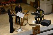 Das Trio Pegasus musiziert in der Kirche Sulgen. (Bild: Monika Wick)
