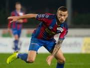 Nicolae Milinceanu sorgte mit dem 3:1 gegen Wil auch dafür, dass Chiasso das Tabellenende verliess (Bild: KEYSTONE/TI-PRESS/PABLO GIANINAZZI)