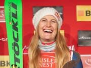 Fanny Smith sicherte sich zum Saison-Abschluss bei ihrem Heimrennen in Veysonnaz den Gesamt-Weltcup-Sieg (Bild: KEYSTONE/GIAN EHRENZELLER)