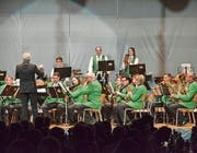 Andreas Morgenthaler dirigiert die Bürgermusik Ettenhausen. (Bild: Christoph Heer)