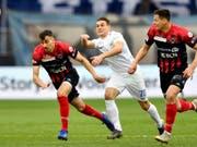 Benjamin Kololli ist der Mann der Stunde beim FC Zürich und war beim 2:1 gegen Neuchâtel Xamax der Matchwinner für das Heimteam (Bild: KEYSTONE/WALTER BIERI)
