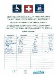 Ein fingiertes Spendenblatt der rumänischen Betrüger. (Bild: Kantonspolizei St.Gallen - 17. März 2019)