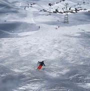 Marcel Dobler ist in Flims auf leeren Pisten unterwegs. (Bild: PD)