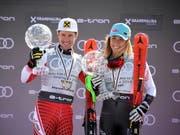 Überstrahlen die Konkurrenz: Marcel Hirscher und Mikaela Shiffrin (Bild: KEYSTONE/EPA/CHRISTIAN BRUNA)