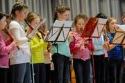 Bei der Aufführung spielten die Blockflötenspielerinnen eine wichtige Rolle. (Bild: Rudolf Steiner)