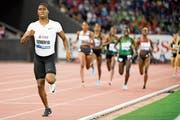 Caster Semenya liess ihre Konkurrentinnen beim 800-Meter-Lauf im Letzigrund-Stadion in Zürich weit hinter sich. (Bild: Jean-Christophe Bott/Keystone (Zürich, 30. August 2018))