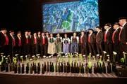 Das Jodelchörli St.Gallen Ost feierte im März 2018 seinen 30. in einer vollen Olma-Halle unter anderem mit der Premiere der ersten Jodelchor-Hymne für die Stadt St.Gallen. (Bild: Ralph Ribi - 3. März 2019)