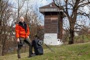«Die Füsse sagen, was geht», sagt Christian Adeler bei seinem Halt in St.Gallen. (Bild: Adriana Ortiz Cardozo)