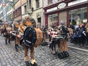 Auch die Guuggenmusigen sind schon unterwegs! Hier die «Födlitätscher». (Bild: Sandro Renggli)