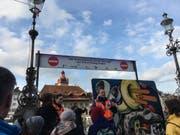 Der Rathaussteg ist Richtung «Egg» momentan gesperrt. (Bild: Sandro Renggli)