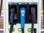 Ladestationen für Elektroautos. (Bild: KEYSTONE/ALEXANDRA WEY)