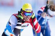 Dominik Baldauf im Februar 2019, bei der Qualifikation zum Team-Sprint der Herren an den Nordischen Weltmeisterschaften in Seefeld. (Bild: APA/GEORG HOCHMUTH)