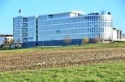 Nicht für alle Nutzungen geeignet: Land zwischen Corporate Center und Forster-Küchenzentrum (Bild: Max Eichenberger)