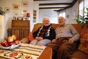 Noch immer leben Otto und Alice Rüdt selbstständig in ihrer Wohnung in Goldach. (Bild: Jolanda Riedener)