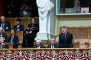 Der ungarische Parlamentspräsident László Kövér im Nationalratssaal. (Bild: Peter Klaunzer / Keystone, Bern, 20. März 2019)