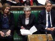 Die britische Premierministerin Theresa May hat die EU um einen kurzen Brexit-Aufschub bis zum 30. Juni gebeten. Für eine Verlängerung über Ende Juni hinaus sei sie nicht bereit, sagte sie am Mittwoch im Unterhaus in London. (Bild: KEYSTONE/EPA UK PARLIAMENT/JESSICA TAYLOR / HANDOUT)