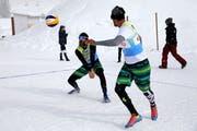 Snow-Volleyball wird auch in der Schweiz immer populärer. (Bild: PD, Engelberg, 18. Februar 2018)