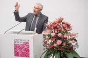 Peter Brabeck (74), am Dienstag Referent an der Uni Luzern, war bis im Frühjahr 2017 Präsident von Nestlé. (Bild: Boris Bürgisser)