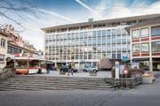 Der Standort für die Neue Bibliothek von Stadt und Kanton: Das Uniongebäude am St.Galler Blumenmarkt. (Bild: Urs Bucher)