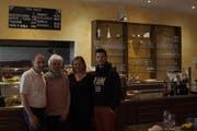 Pankraz und Jeannette Kapeller übernehmen die Pizzeria Arrabbiata von Helena und Edi Lazraj (von links). (Bild: Jessy Nzuki)