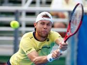Radu Albot spielt am Samstag erstmals gegen Roger Federer (Bild: KEYSTONE/AP/WILFREDO LEE)