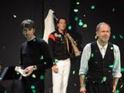 Jens Harzer als Ich (v.l.) in «Immer noch Sturm» von Peter Handke an den Salzburger Festspielen 2011. Jetzt ist der Schauspieler neuer Träger des renommierten Iffland-Rings. (Bild: KEYSTONE/AP dapd/Kerstin Joensson)