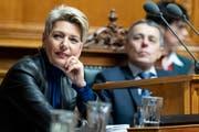 Im Amt angekommen: Bundesrätin Karin Keller-Sutter. (Bild: Keystone)