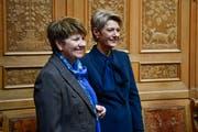 Frauenpower: Viola Amherd und Karin Keller-Sutter (Bild: Keystone)
