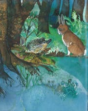 Sita Jucker zeichnete 1986 «Stummel, ein Hasenkind wird gros» in Pastelltönen.