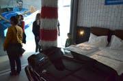 Ein Hotelzimmer als Waschanlage: Im neuen Hotel von Rotz ist vieles möglich. Bild: Chrisoph Heer