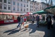 Au dem St.Galler Wochenmarkt. (Bild: Benjamin Manser - 23. März 2019)