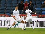 Eran Zahavi (links) war beim 4:2-Sieg Israels gegen Österreich an allen vier Toren beteiligt (Bild: KEYSTONE/AP/ARIEL SCHALIT)