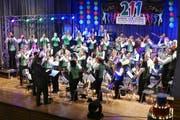 Die jubilierende Musikgesellschaft Montlingen Eichenwies bot wie gewohnt Blasmusik auf hohem Niveau. (Bilder: Ulrike Huber)