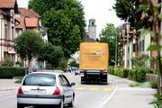 Die Landquartstrasse hat sich nicht zur Ausweichstrecke für Lastwagenfahrer entwickelt. (Bild: Max Eichenberger)