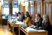 Der Luzerner Stadtrat während der Grossstadtratssitzung vom 31. Januar 2019. (Bild: Pius Amrein)
