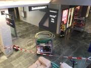 Nasser Boden im Untergeschoss des Bahnhofs Luzern. (Bild: Jonas von Flüe, 25. März 2019)