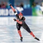Livio Wenger bei einem 1500-Meter-Weltcup-Rennen in Polen. Bild: Boris Streubel/Getty (Tomaszów Mazowiecki, 8. Dezember 2018)