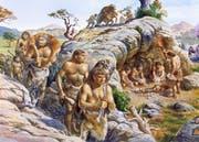 Der Mann als Jäger, die Frau als Hüterin von Feuer und Kind - so einfach war es in der Steinzeit nicht. (Bild: Keystone)