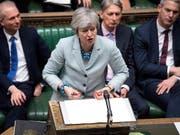 Die britische Premierministerin Theresa May bei ihrer Rede am Dienstag im Parlament. (Bild: KEYSTONE/EPA UK PARLIAMENT/JESSICA TAYLOR / UK PARLIAMENT / HAND)