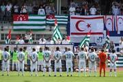 Abchasien vor dem Spiel gegen Nordzypern an der Non-Fifa-WM 2018 in London. 2014 waren 14 Verbände Mitglieder der Confederation of Independent Football (Conifa). Heute sind es 54 auf fünf Kontinenten. (Bild: Getty Images, 2018)