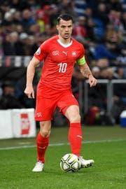 Granit Xhaka spielte gegen Dänemark bis zur 79. Minute. Dann kam Djibril Sow. (Bild: Freshfocus)